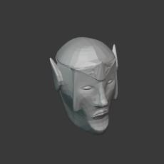 Elf Head Statue