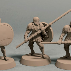 Realm of Eros soldiers with longspears pack (3 miniatures) - STL file