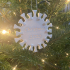 Covid Snowflake Christmas 2020 Ornament image