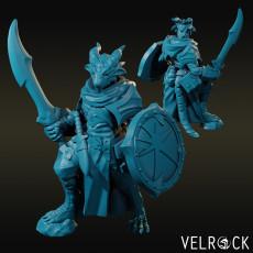 Dragonborn Cleric of Tamara with Scimitar and Shield