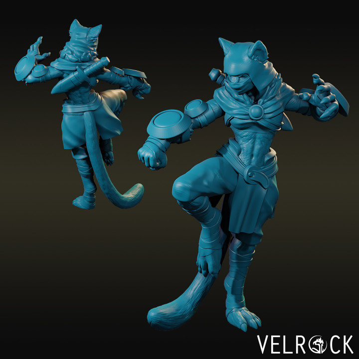 3d Printable Tabaxi Monk With Claws Female By Velrock Art Tabaxi d&d 5th edition 5e is an interesting game which allows people to play and hunt with the help of cat styles from time to time. tabaxi monk with claws female