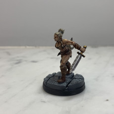 Picture of print of Northern Barbarian Queen - Professionally pre-supported! Multiple Weapon Options