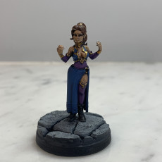 Picture of print of Female Elf Warlock -Professionally pre-supported!