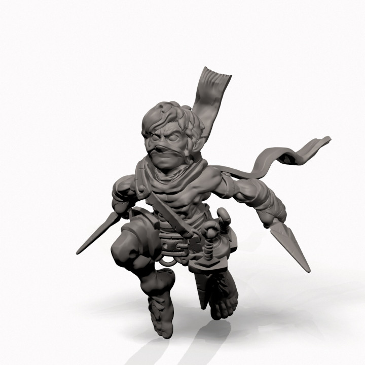 3d Printable Halfling Rogue Professionally Pre Supported By Greg Kourakos 1401 halfling rogue 3d models. halfling rogue professionally pre supported