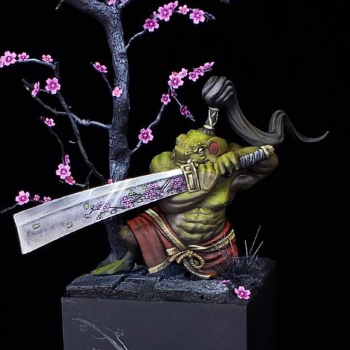 Hikkiyori Swordmaster -Toad Samurai  - Professionally pre-supported!