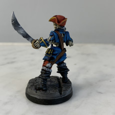 Picture of print of Skeleton Pirate Captain- Professionally pre-supported!