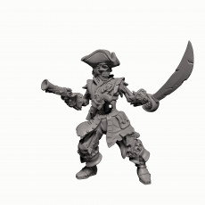Skeleton Pirate Captain- Professionally pre-supported!