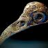 Filigree Anatomical Raven Skull - Pre-supported STL image