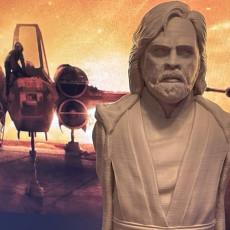 Picture of print of Luke Skywalker bust - The Last Jedi