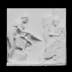 Relief depicting Ulysses consulting the diviner Teiresias