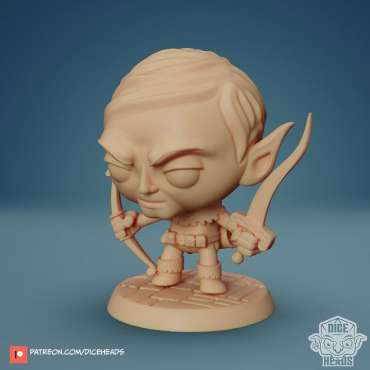 Chibi Elf Ranger 24mm PRE-SUPPORTED's Cover