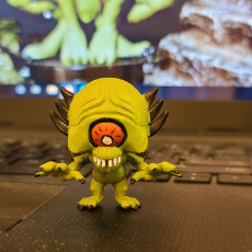Picture of print of Chibi Psycho Monster 24mm FREE PRE-SUPPORTED