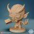 Chibi Devilkin Warlock 24mm PRE-SUPPORTED image