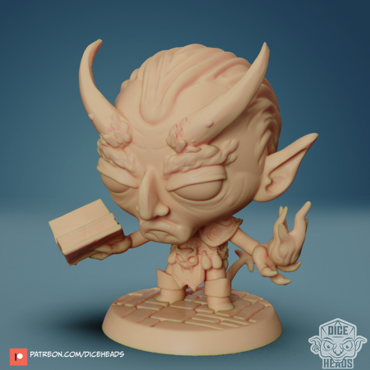 Chibi Devilkin Warlock 24mm PRE-SUPPORTED's Cover