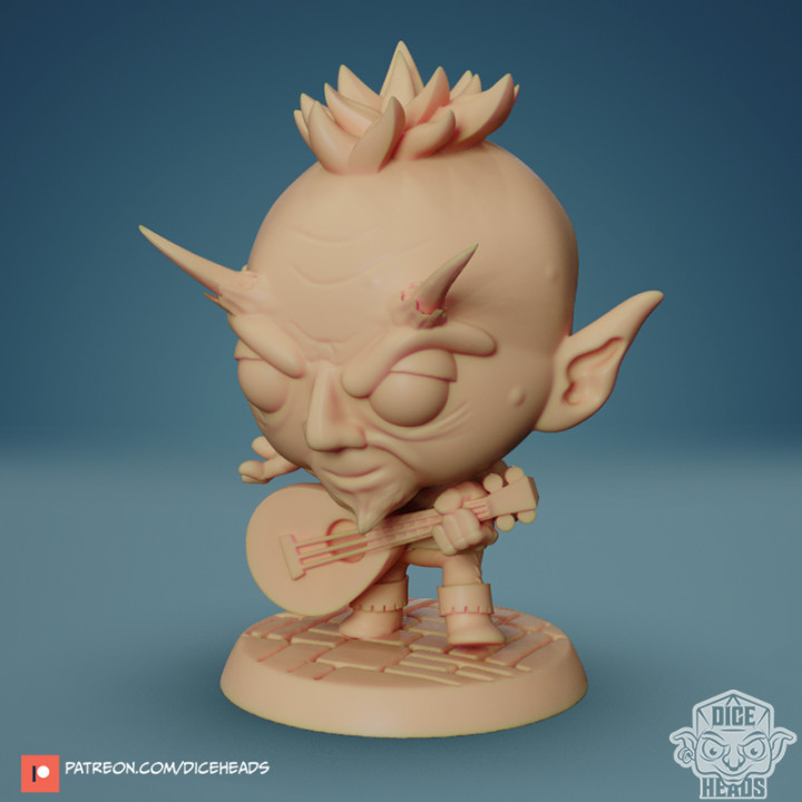 Chibi Devilkin Bard 24mm PRE-SUPPORTED's Cover