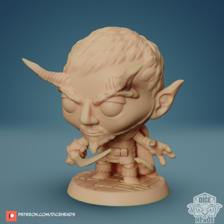 Chibi Devilkin Fighter 24mm PRE-SUPPORTED's Cover