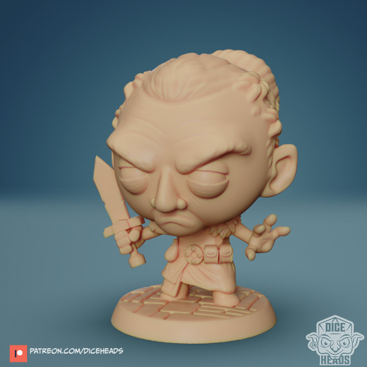 Chibi Female Dwarf- Danica 24mm PRE-SUPPORTED's Cover