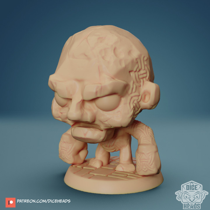 Chibi Stone Golem 24mm PRE-SUPPORTED's Cover
