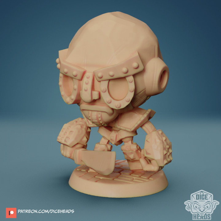 Chibi Iron Golem 24mm PRE-SUPPORTED's Cover