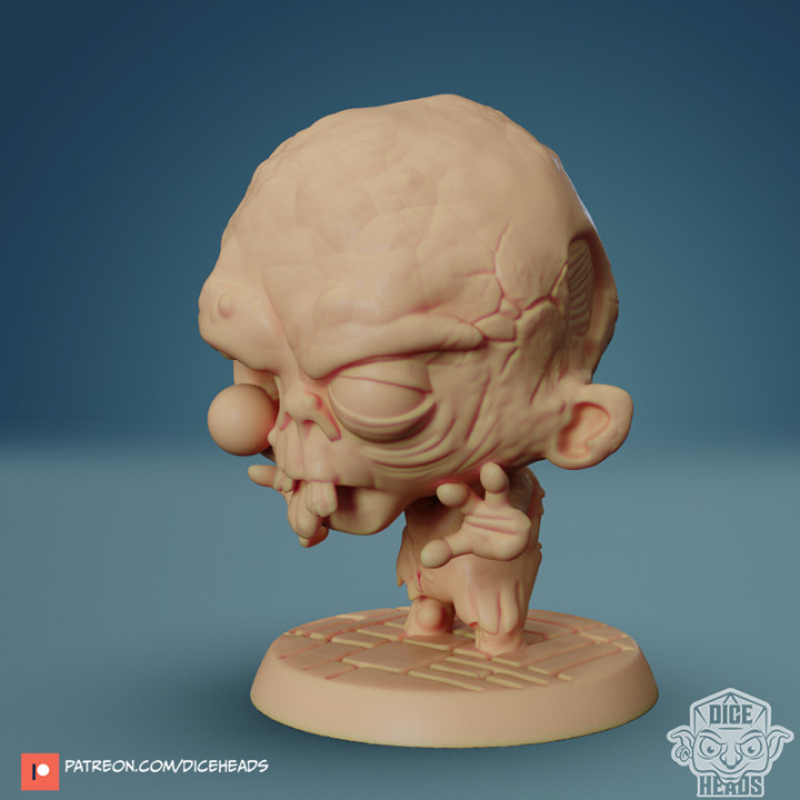 Chibi Zombie 24mm PRE-SUPPORTED's Cover