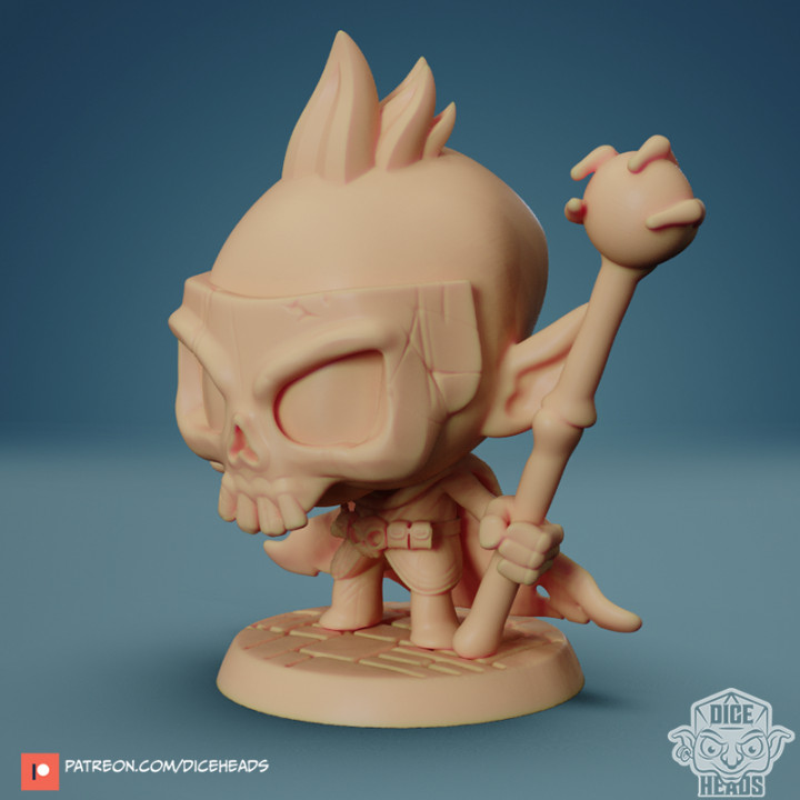 Chibi Necromancer 24mm PRE-SUPPORTED's Cover