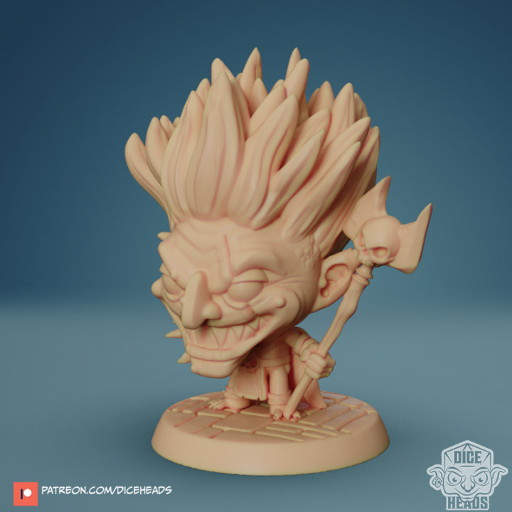 Chibi Goblin Witchdoctor 24mm PRE-SUPPORTED's Cover