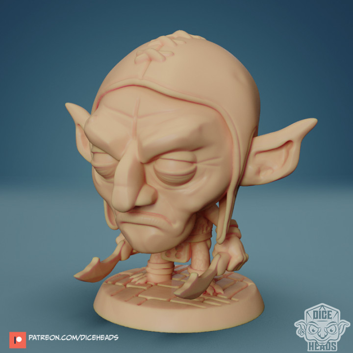 Chibi Goblin Assassin 24mm PRE-SUPPORTED's Cover