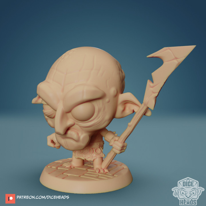 Chibi Goblin Huntress 24mm PRE-SUPPORTED's Cover
