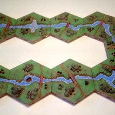Picture of print of Hexton Hills River Crossing Set 01