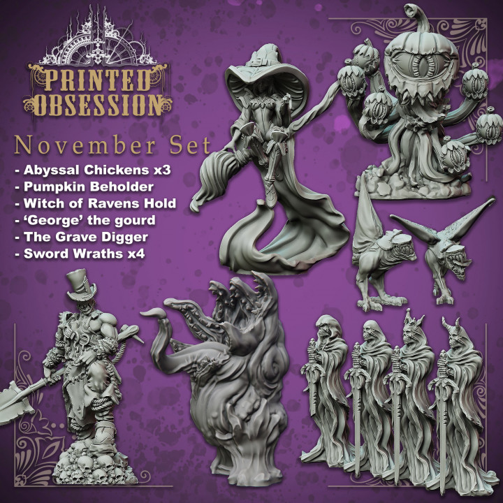 Printed Obsession Witch of Ravenhold