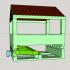 Bird feeder with adjustable angle. image