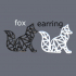 Fox earrings (geometric) image