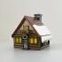 Christmas Cabin Lamp image