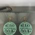 Merry Christmas earrings (2 files!) image