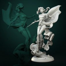 Vaelia Arra, sorcerer 75mm and 32mm pre-supported