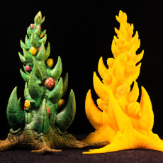 """Picture of print of Tabletop plant: """"Orkish Xmas-Tree"""" (Alien Vegetation 29)"""