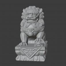 stonelion model stone lion statue Auspicious animal