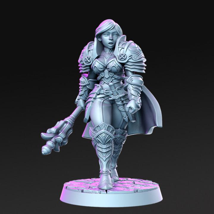 Caliope - Female knight- 32mm - DnD