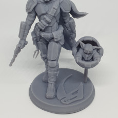 Picture of print of The Mandalorian - Star Wars Fanart - 30cm