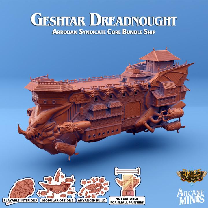 Airship - Geshtar Class Dreadnought's Cover