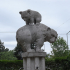 Mama bear with cub fountain image