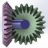 Bevel gear transmission-2 gears image