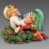Christmas Elf and wreath image