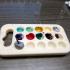 Acrylic paint palette image