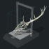 Wireframe Deer Head With Giant Antlers image