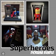 SuperHeroes Diorama Bundle - Wekster Mini's not included