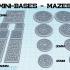 Mini Bases - Mazes - Square/Round image