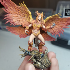 Picture of print of Lanfear The Harpy Queen - Dark Gods - Presupported