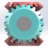 Bevel gear transmission-4 gears image