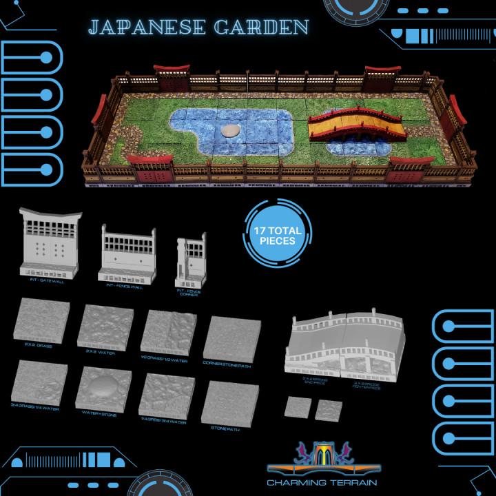 Cyberglow City Cyberpunk Japanese Garden OpenLOCK
